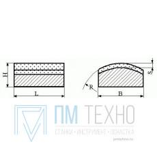 Брусок хонинговальный тип АБХ 100х 4х3х1,5 R10 АСМ 14/10 100% М2-01, 2,6 карат
