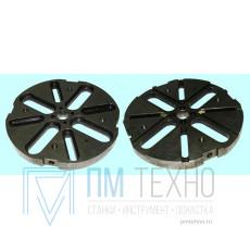 Диск 4-х пазовый d 200 универсально-сборных круглых накладных кондукторов (7081-0486) ГОСТ15550-70 (восстановленный)