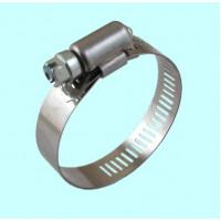 Хомут червячный CNIC     25-45/12,7мм W2 нержавеющая сталь с оцинкованным винтом SAE J1670 (05B2545)