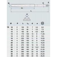 Метчик TR10,0 х 3,0  м/р.Р6АМ5 для трапецеидальной резьбы DIN 103