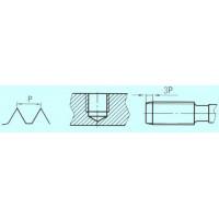 Метчик М12,0 (1,75) м/р.Р9 для глухих отверстий левый