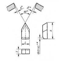 Пластина 11170 ВК8 (5х14х3,5) (для резьбовых резцов)