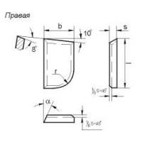 Пластина 07070 Т5К10 (12х8х5х18гр) (для подрезных, проходных расточных и револьверных резцов)