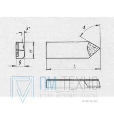 Нож 2020-0001 к торцевой фрезе d100мм правый, угол 60° ВК8 42х18х12мм