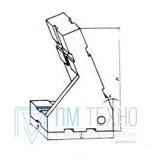 Опора угловая 45х30х65 25° левая, под паз 8мм (ДСПМ2-33) (восстановленная)
