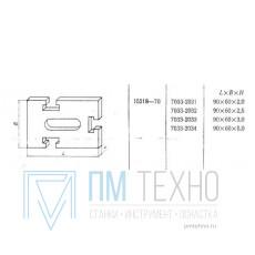Прокладка прямоугольная 90х60х 2,0 с 3-мя Т-образными пазами 12мм (7033-2131) ГОСТ15218-70 (восстановленная)