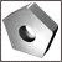 Пластина PNUA  - 110408  Р40 пятигранная dвн=6мм (10113) гладкая
