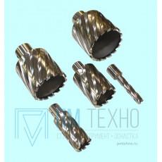 Сверло d 12х50мм корончатое кольцевое Р6АМ5 хвостовик Weldon 19мм по металлу (без выталкивателя)