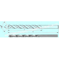 Сверло d  0,8 х 25х46  ц/х Р6АМ5  удлиненное с вышлифованным профилем