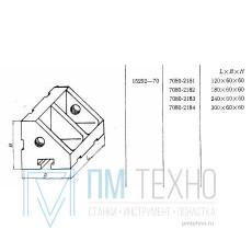 Угольник ребристый 120х 60х 60 с Т-образным пазом 12мм (7080-2181) ГОСТ 15292-70  (ДСП-25) (восстановленный)