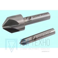 Зенковка d  6,0х 4.0х 42 конус  90° dхв=6мм Р6АМ5 ц/х Z=6 DIN335A